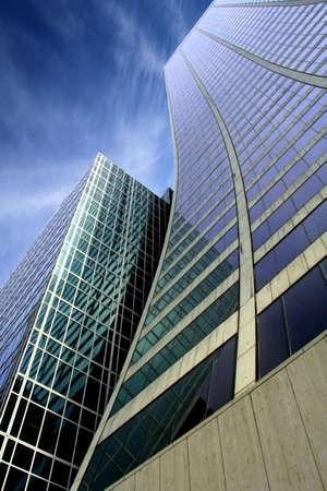 Skyscraper with a dramatic blue sky photo
