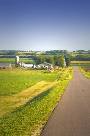 View of a farm under a blue sky Stock Photo - 1366882