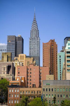 chrysler: Chrysler building on skyline in New York City