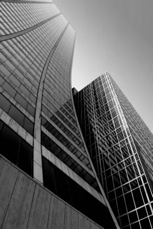 Abstract city skyscraper in black and white