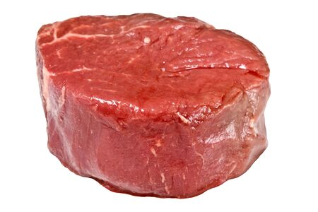 Raw fillet steak isolated on white background Stock Photo - 2689843