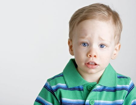 Young boy with a sad expression Stock Photo - 3121261