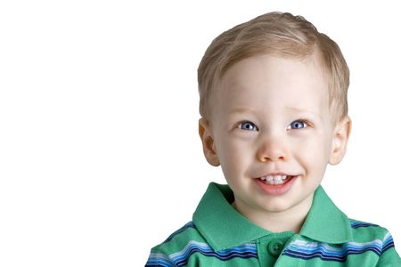 fair skin: Young boy with a happy expression
