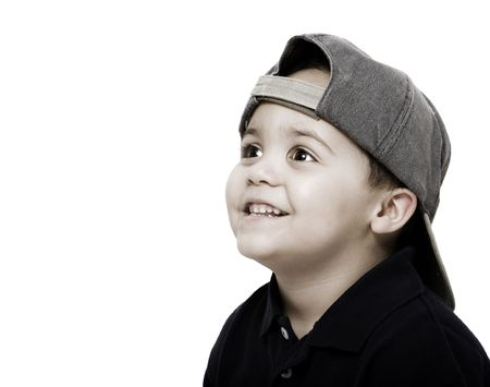 Young latino boy wearing baseball cap Stock Photo - 3264230