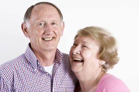 Happy embracing senior couple portrait Stock Photo - 3264251