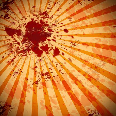 汚れた血液スプラッタ背景グラフィック 写真素材