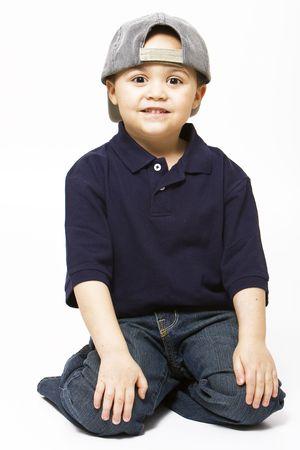 Young latino boy wearing baseball cap Stock Photo - 3399946