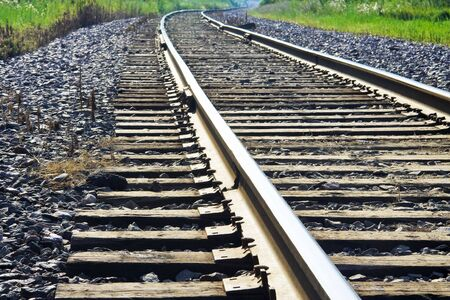 fading: Old railway tracks fading into distance Stock Photo