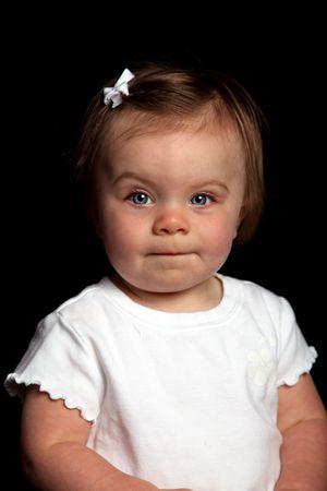 Happy baby girl portrait Stock Photo - 5215920