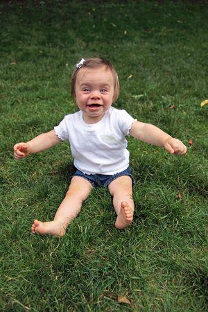 Happy baby girl portrait Stock Photo - 5215924