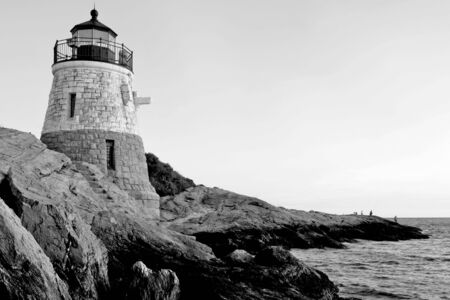 Castle Hill Lighthouse in Newport Rhode Island photo