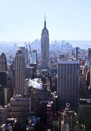 imperium: New York City skyline overdag Redactioneel