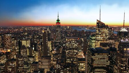 New York City skyline at sunset Stock Photo - 6199193