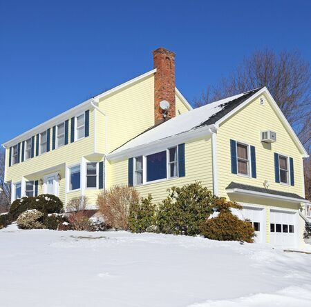 Traditional American colonial style house in winter Stock Photo - 6458964