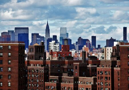New York City skyline on a cloudy day in high contrast color Stock Photo - 6948142