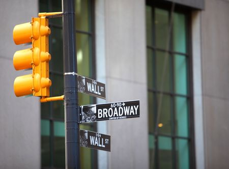 Wall Street and Broadway sign in New York City Stock Photo - 6948145