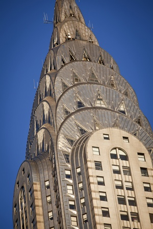 NEW YORK - DEC 28: Chrysler building facade in closeup detail, pictured on on December 28, 2011 in New York, was the world