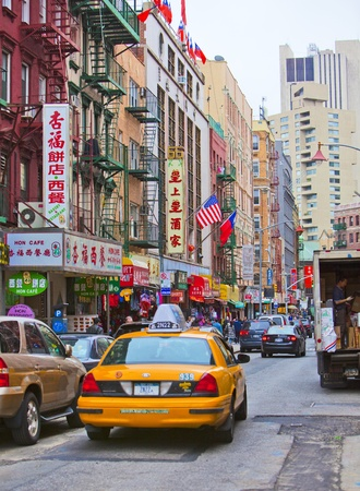 chinatown: NEW YORK - APRIL 18: Street in New York