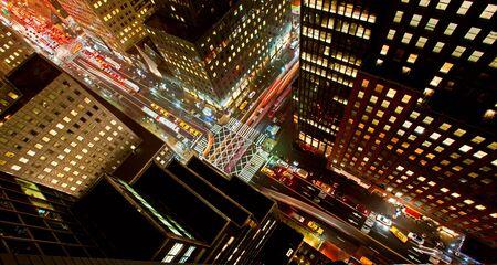 taxi: Hora punta en la calle 42 en Nueva York