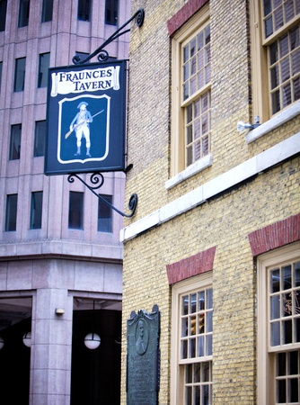 american revolution: NEW YORK - DEC 28: The famous Fraunces Tavern is one of New Yorks oldest buildings and played a prominent role in pre-Revoultion and American Revolution history, on December 28, 2011 at 54 Pearl Street, New York.