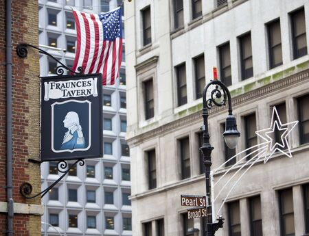 NEW YORK - DEC 28: The famous Fraunces Tavern is one of New York