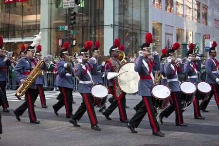 NEW YORK, NY, USA MAR 17: Marching US Army band at the St. Patrick's Day Parade on March 17, 2012 in New York City, United States. Stock Photo - 13062669