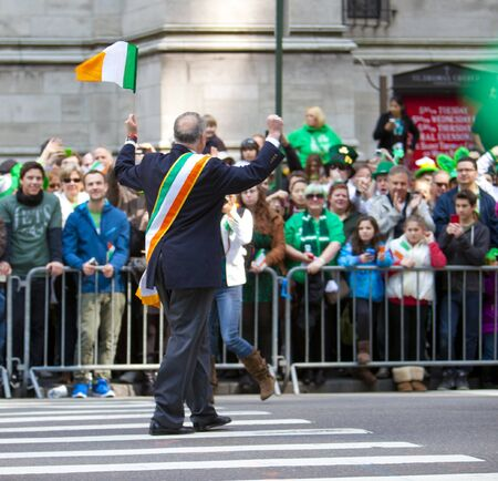 NEW YORK, NY, USA MAR 17:  New York State Senator Charles Schumer at the St. Patrick's Day Parade on March 17, 2012 in New York City, United States. Stock Photo - 13062574