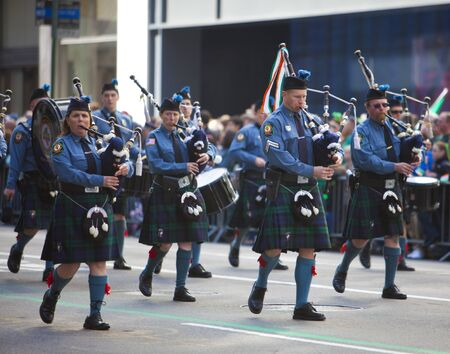 NEW YORK, NY, USA MAR 17: Bagpipers at the St. Patrick's Day Parade on March 17, 2012 in New York City, United States. Stock Photo - 13062617