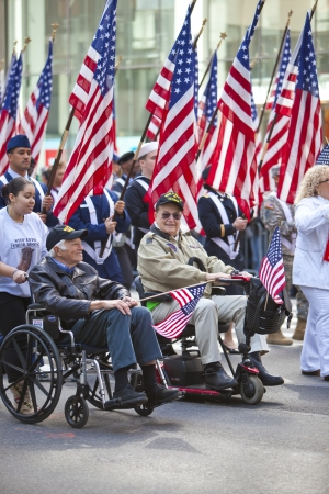 NEW YORK, NY, USA MAR 17: United States Military Veterans at the St. Patrick's Day Parade on March 17, 2012 in New York City, United States.