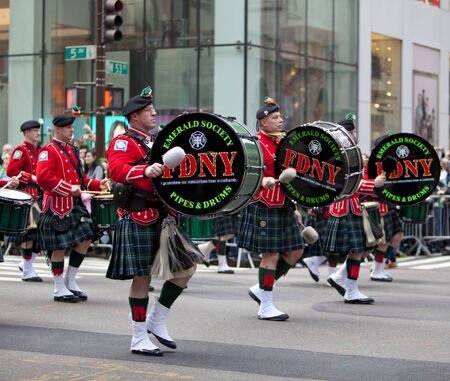 NEW YORK, NY, USA MAR 17:  New York Fire Department at the St. Patricks Day Parade on March 17, 2012 in New York City, United States. Editorial