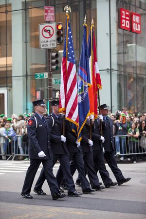 NEW YORK, NY, USA MAR 17:  New York Fire Department at the St. Patrick's Day Parade on March 17, 2012 in New York City, United States. Stock Photo - 13062661
