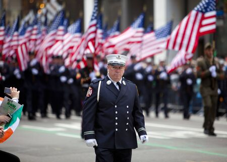 NEW YORK, NY, USA MAR 17:  New York Fire Department at the St. Patricks Day Parade on March 17, 2012 in New York City, United States.