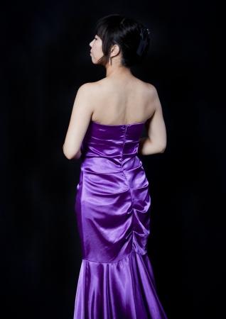 Beautiful asian woman close up portrait in studio