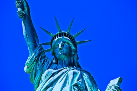 hdr: Statue of Liberty in New York City