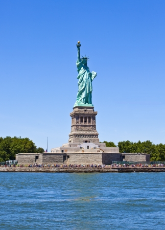 hudson river: Statue of Liberty in New York City