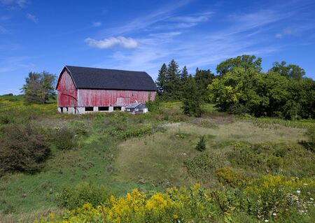American Country Farm With Blue Sky Stock Photo - 15802924