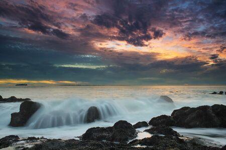 Sunset over Robbin Island Standard-Bild