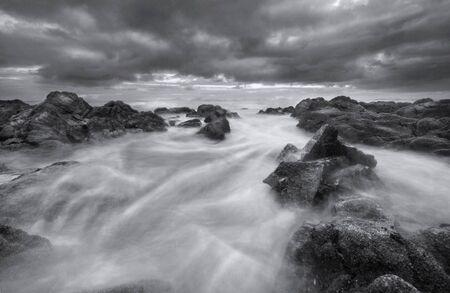 dramatic storm at sea Standard-Bild