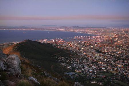 Cape Town nightscape Standard-Bild