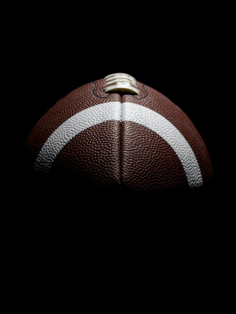 Flying Football on Black photo