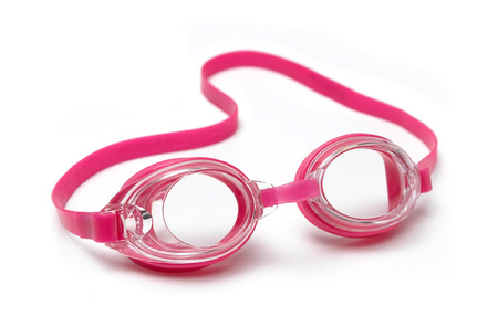 swimming goggles: Pink Swimming Goggles on a white background