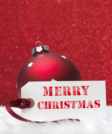 merry christmas text: Adorno de navidad con el texto de la Feliz Navidad
