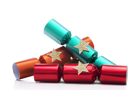 Christmas Crackers Stock Photo