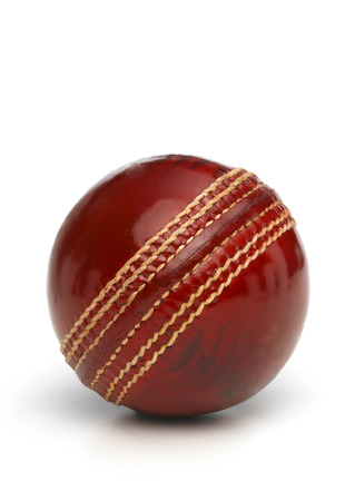 cricket ball: Red Leather Cricket Ball