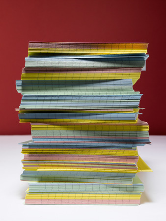 index card: Index Card pile