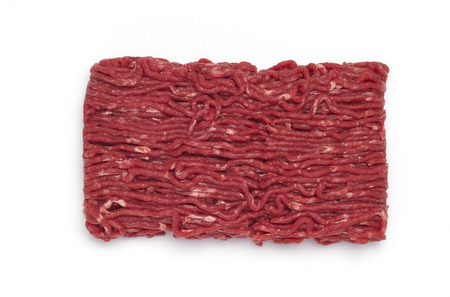 isolated ground mince