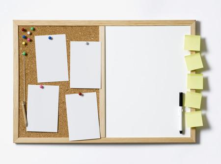 Cork Pinboard fully loaded photo