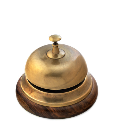 Isolated reception bell photo