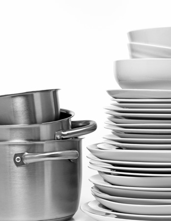 Plates in a stack photo