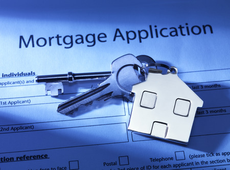Mortgage Application to go Stock Photo
